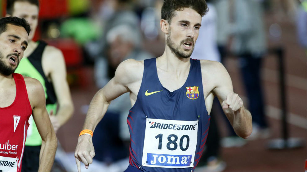 Álvaro de Arriba, en una carrera