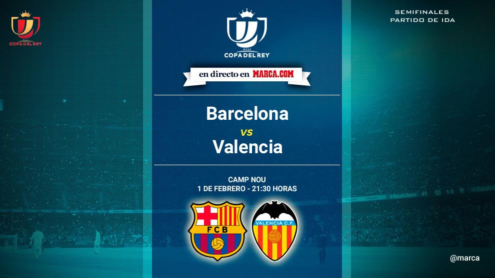 Barcelona vs Valencia - Semifinal Copa del rey ida