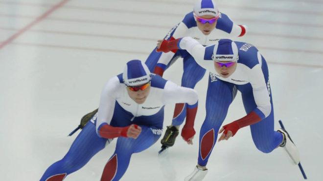 Angelina Golikova, Olga Fatkulina, Elizaveta Kazelina, equipo ruso de...