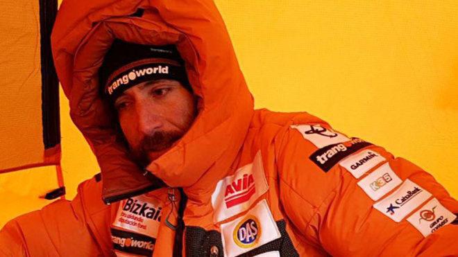 Álex Txikon, en el Everest