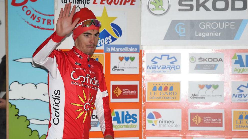 Christophe Laporte, en el podio.