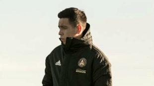 Ezequiel Barco, en un entrenamiento con Atlanta United.