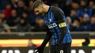 Icardi, en un partido con el Inter.