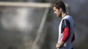 Iñigo Martínez, en el entrenamiento.