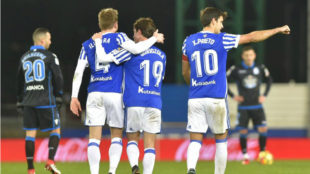 Real Sociedad pummel Deportivo for much-needed three points