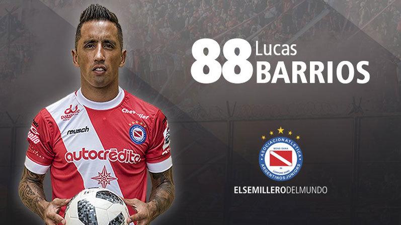 El atacante Lucas Barrios, clave en el triunfo de Argentinos en la ...