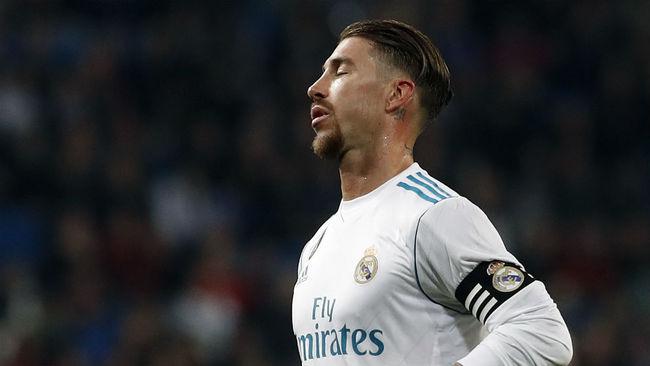 Ramos durante un partido con el Real Madrid