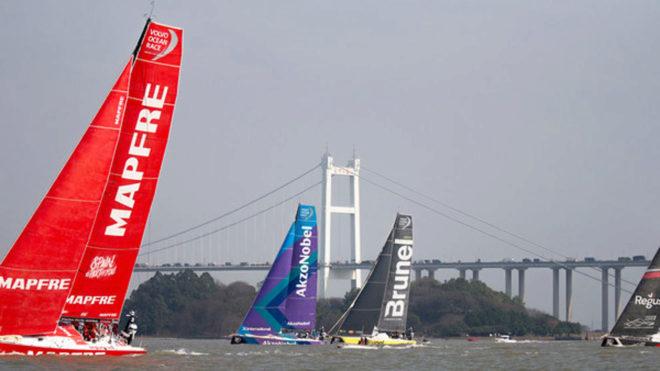 El MAPFRE liderando la costera de Guangzhou