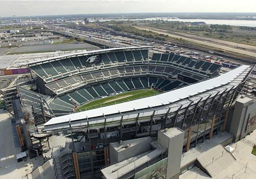El Lincoln Financial Field, estadio de los Eagles.