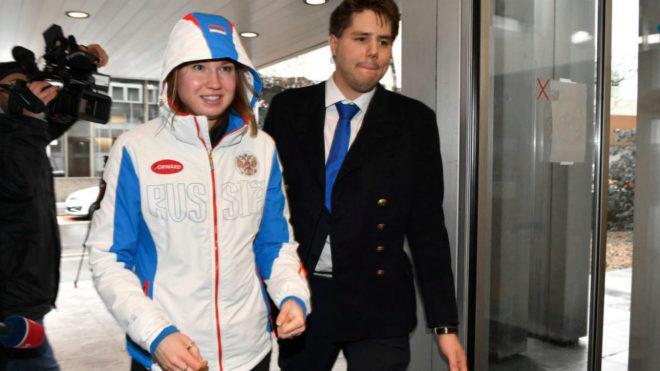 La patinadora de velocidad Olga Fatkulina llega a la Corte del TAS el...