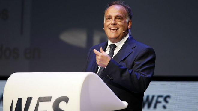 Javier Tebas, en  el pasado World Football Summit