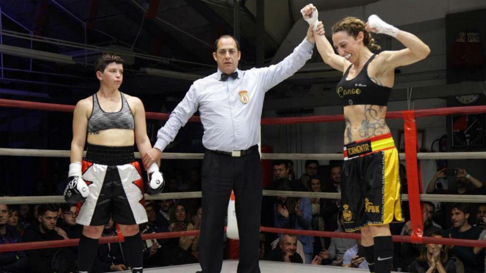 Jennifer Miranda, en el momento que la proclaman vencedora del...