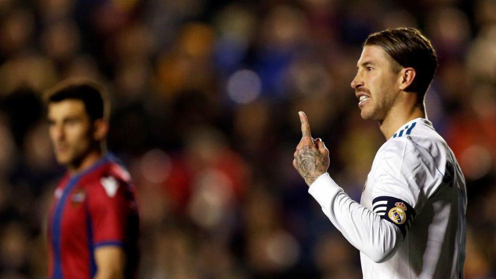 Ramos, en el partido ante el Levante