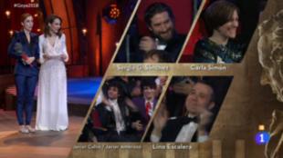 Carla Simón, feliz tras ser anunciado su premios a Mejor Dirección...