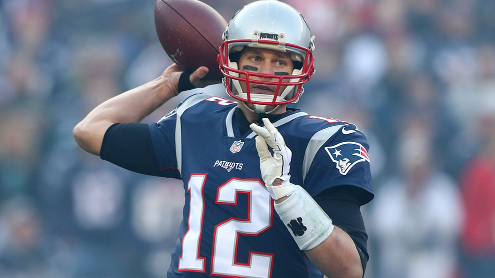 Tom Brady durante un partido de 2017.