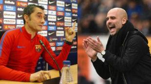 Valverde y Guardiola.