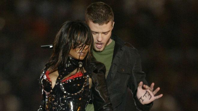 Instante de la actuación de 2004 de Timberlake y Janet Jackson.