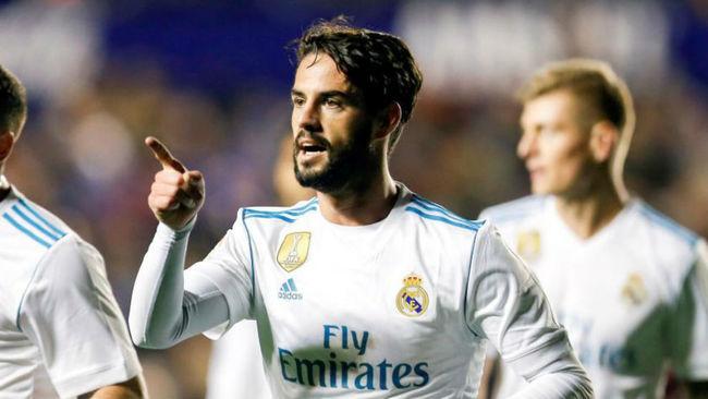 Isco celebra su gol ante el Levante