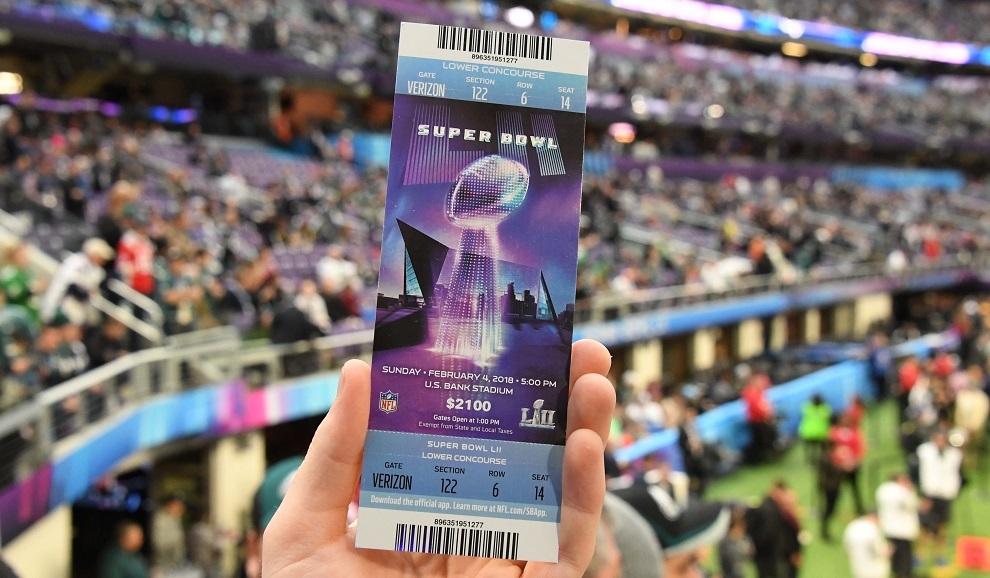 Boleto del Super Bowl LII
