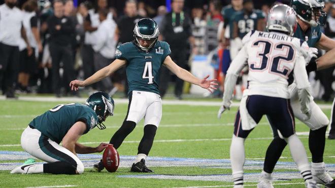 Jake Elliott consigue tres puntos más para los Eagles