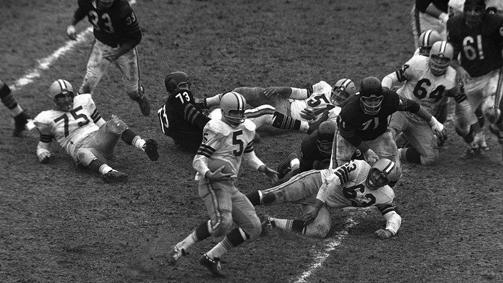 El campeonato de la NFL de 1960 entre Filadelfia y Green Bay.