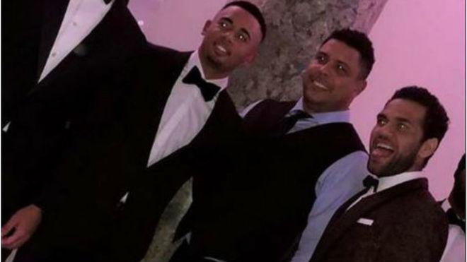 Ronaldo Nazario, en la fiesta de Neymar del domingo junto a Alves y...