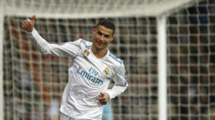 Cristiano Ronaldo celebra un gol esta temporada.
