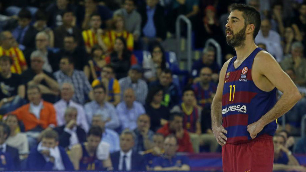 Juan Carlos Navarro, circunspecto durante un partido del Barcelona