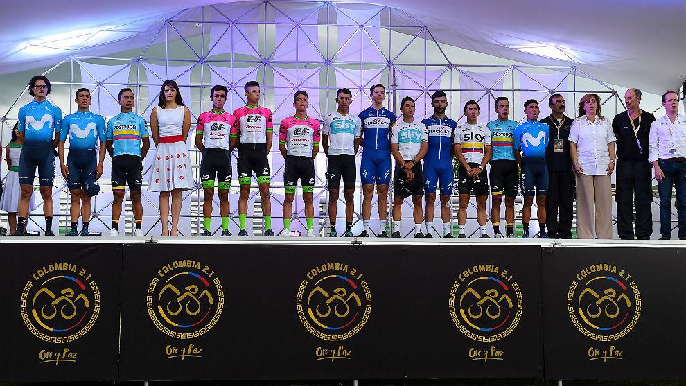 De izquierda a derecha, Winner Anacona, Dayer Quintana, Darwin...