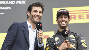 Max Webber, junto a Daniel Ricciardo. GP de Bélgica 2017.