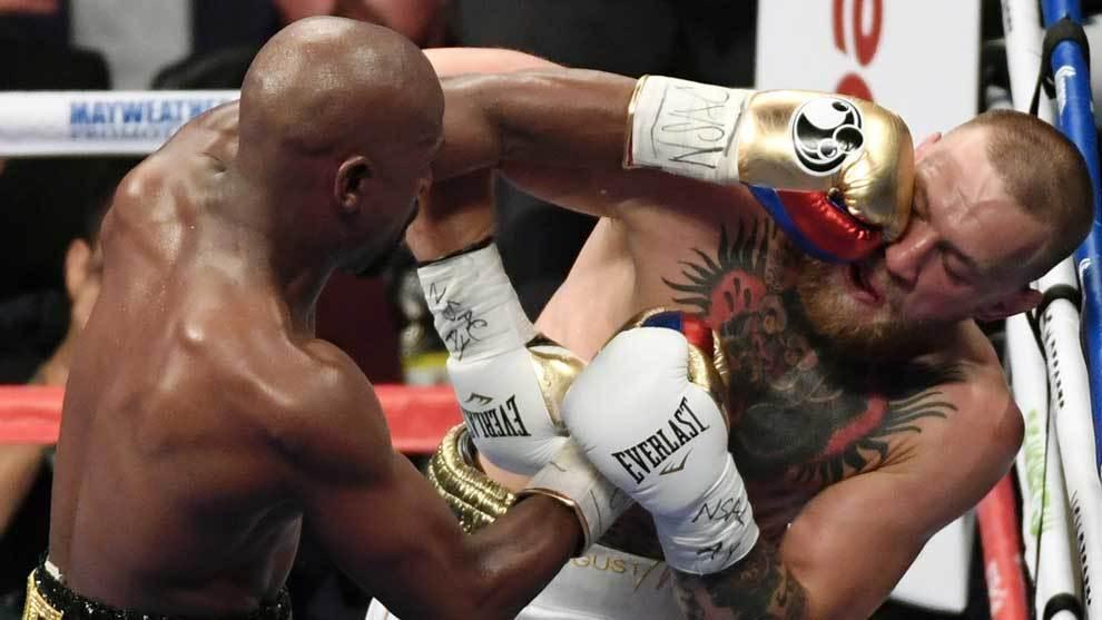 Conor McGregor durante su famosa pelea contra Floyd Mayweather