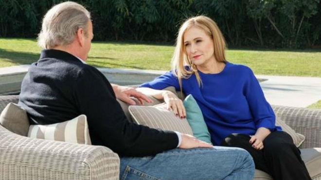 Cristina Cifuentes durante su entrevista en 'Mi casa es la tuya'