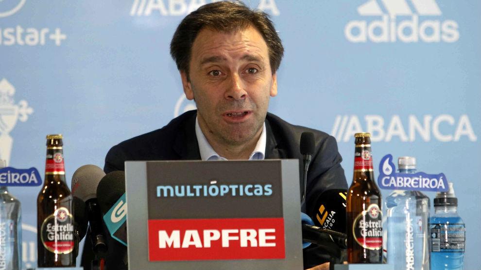 Felipe Miñambres, director deportivo del Celta