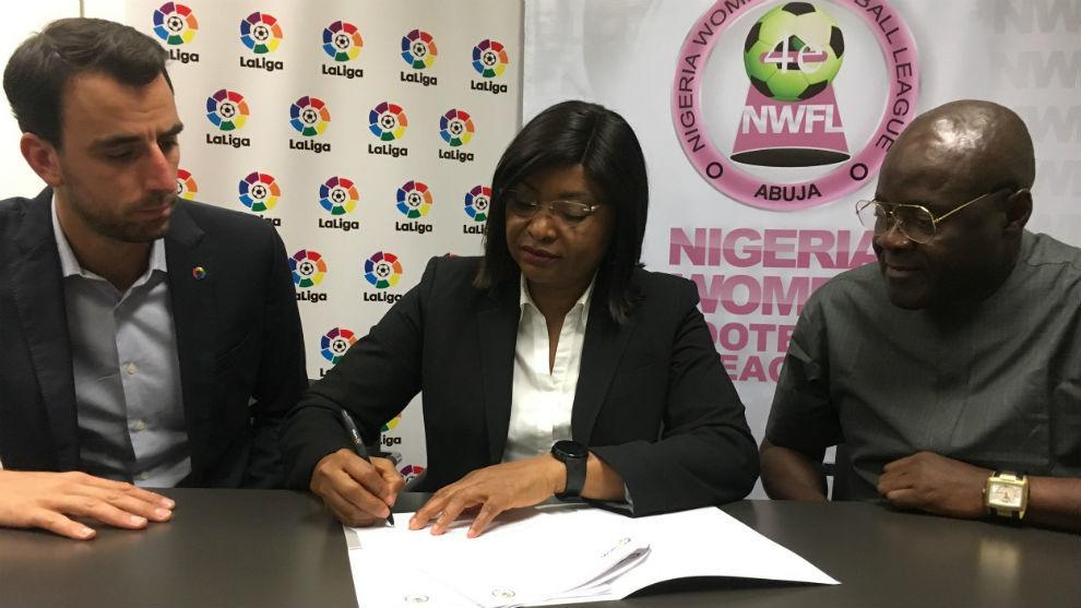 Firma el acuerdo entre LaLiga (España) y la NWFL (Nigeria).