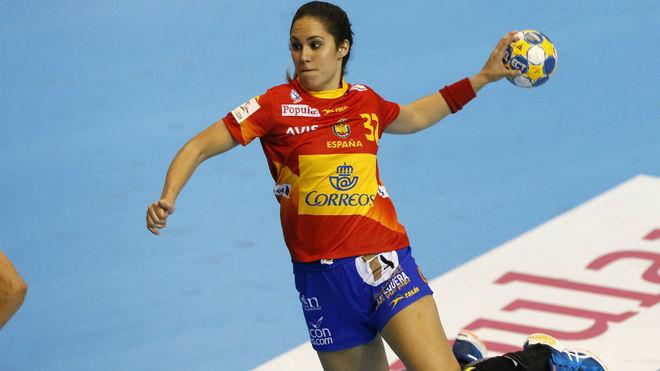 Mireya González, en un partido con la selección española