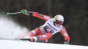 Kristoffersen, durante el slalom gigante de Garmisch-Partenkirchen.