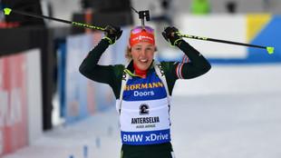 Laura Dahlmeier gana en Amholtz