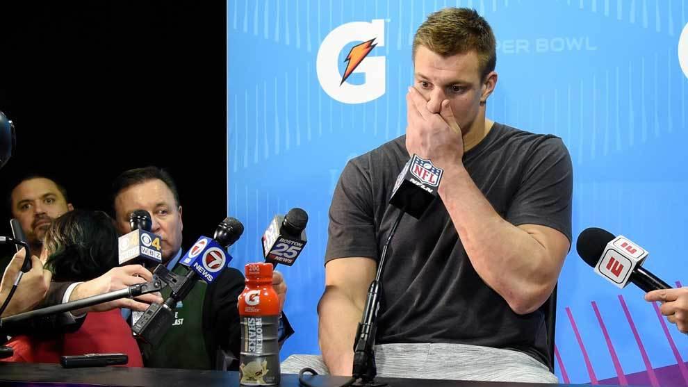Rob Gronkowski tras perder la Super Bowl con los Patriots