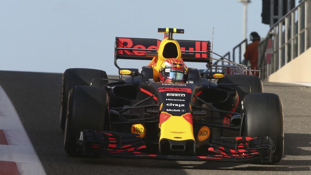 Max Verstappen, con el Red Bull RB13