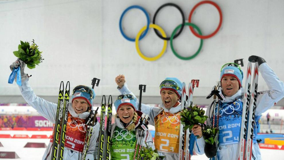 Noruega domina el medallero olímpico. En la imagen Tora Berger, Tiril...