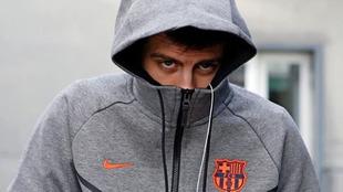 Piqué, a su llegada a Valencia este jueves