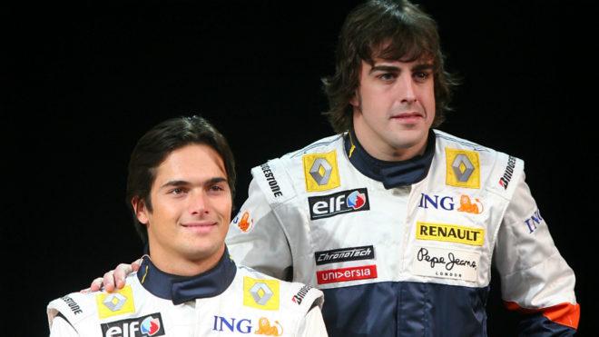 Nelsinho Piquet y Fernando Alonso, en Renault.
