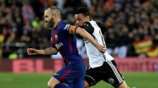 Iniesta, en Mestalla.