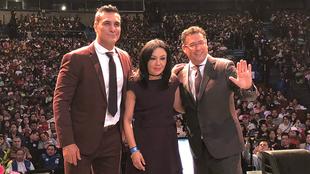 La boxeadora y el luchador buscan apoyar a víctimas del sismo de...
