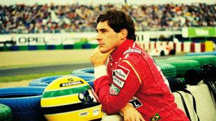 El fallecido piloto brasileño Ayrton Senna.