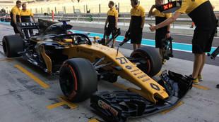 Equipo Renault, en los test de Abu Dhabi
