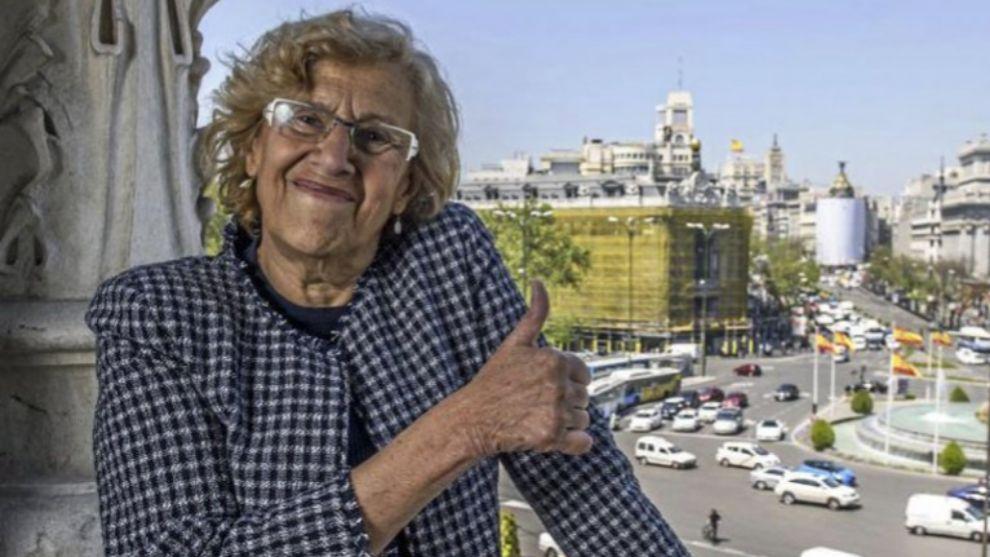 Manuela Carmena en el Ayuntamiento