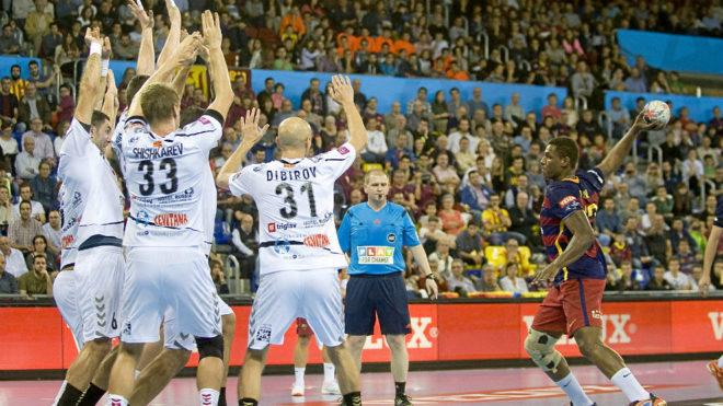 Imagen de un Barcelona-Vardar en la Liga de Campeones