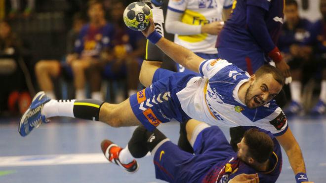 Gonzalo Porras durante un partido ante el Barcelona