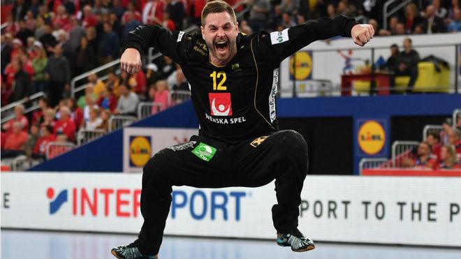 Palicka, durante la semifinal del pasado Europeo que Suecia ganó a...